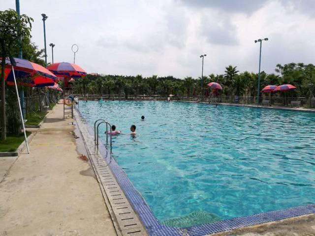儿童游泳池, 戏水池,全部应有尽有; 平沙岛广瀚生态园 侏罗纪恐龙