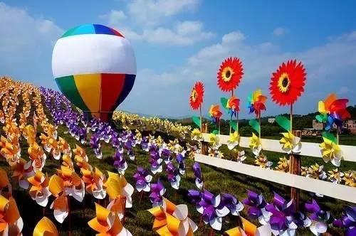 长气球小风车步骤图