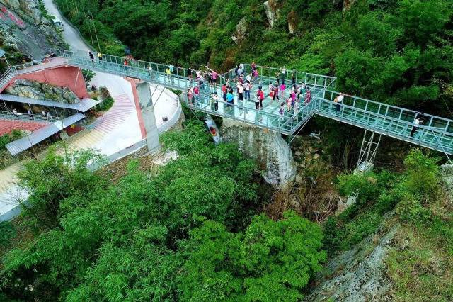 清远龙腾峡空中玻璃漂 天然河道峡谷全程漂流 玻璃桥大瀑布 (套票),一