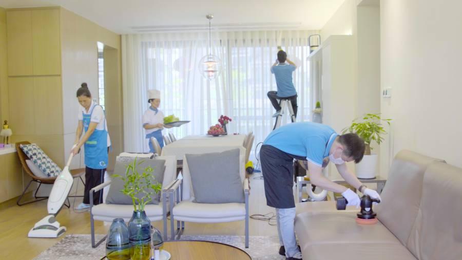【全国通用·保洁】449元抢897元『轻喜到家』家庭深度保洁3次服务,每次4小时,涵盖:卧室、书房、厨房、餐厅、卫生间、客厅、阳台