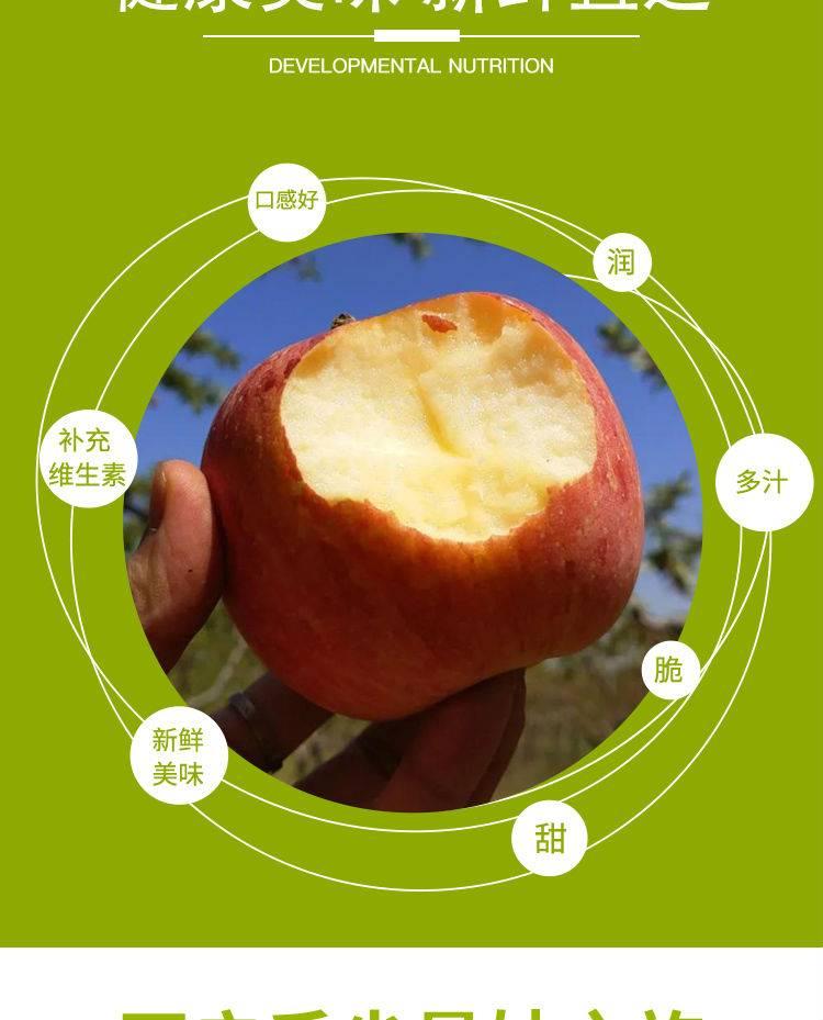 已下架~~~【全国顺丰包邮】带箱10斤!29.9元抢54元『山西临猗苹果』8.5斤装!不催熟,不打蜡,擦一擦就能吃!
