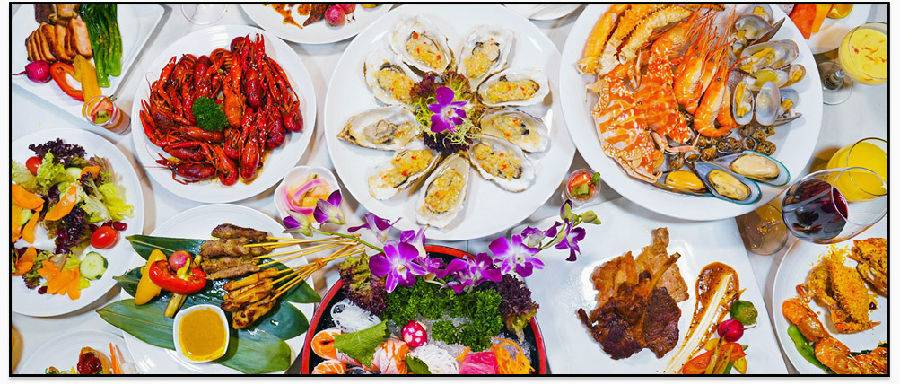 ¥168/位-深圳彭年万丽自助晚餐,比手大的帝王蟹腿领衔,烤生蚝饕餮畅享,还有哈根达斯和红白葡萄酒助阵!