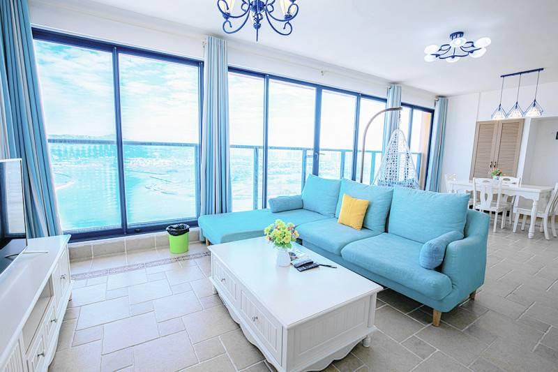 【惠州】无套路!99元双月湾海景/湾景两房一厅,离沙滩仅需步行3分钟,度假网红双月湾的最佳选择!
