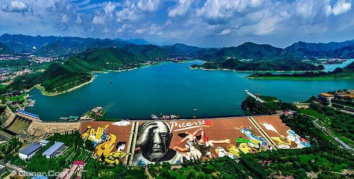 【北京平谷】金海湖风景区成人门票 游船票 快艇票(含坝体彩绘观赏