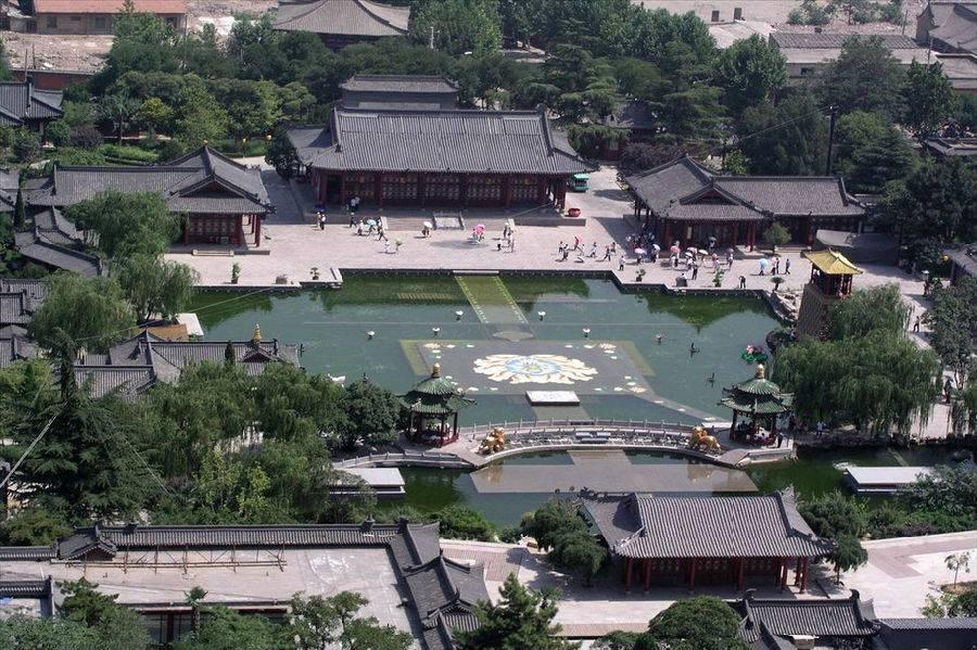 西安骊山风景区游览图